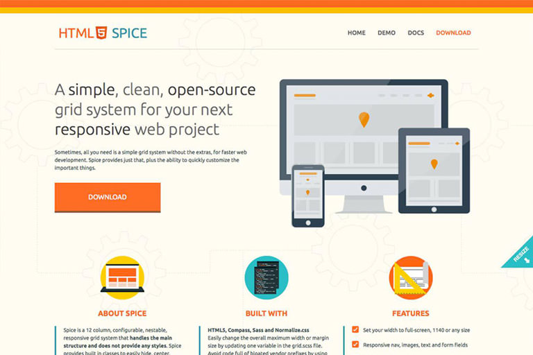HTML5 Spice web project