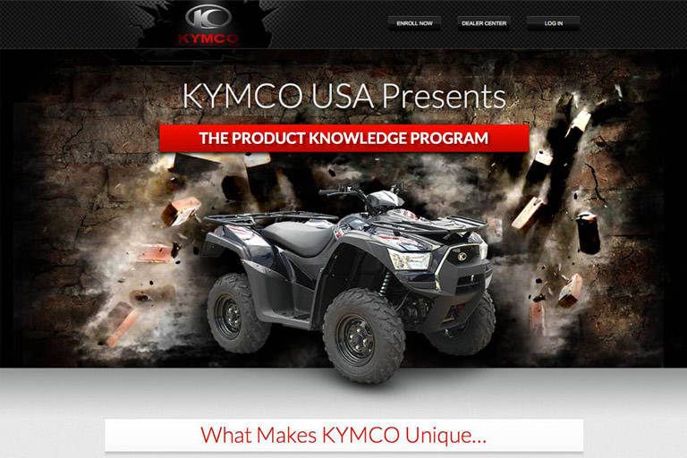 Kymco web application