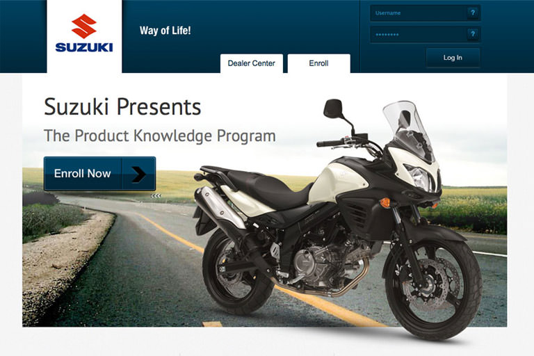 Suzuki International web application